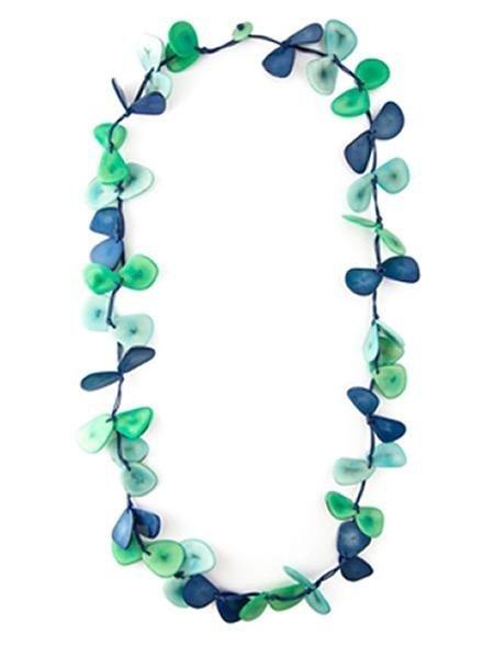 Tarua Slice Necklace In Azule Combo