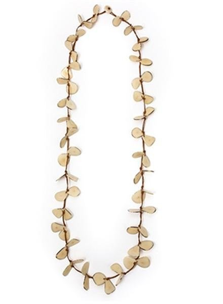 Tagua Slice Necklace In Ivory