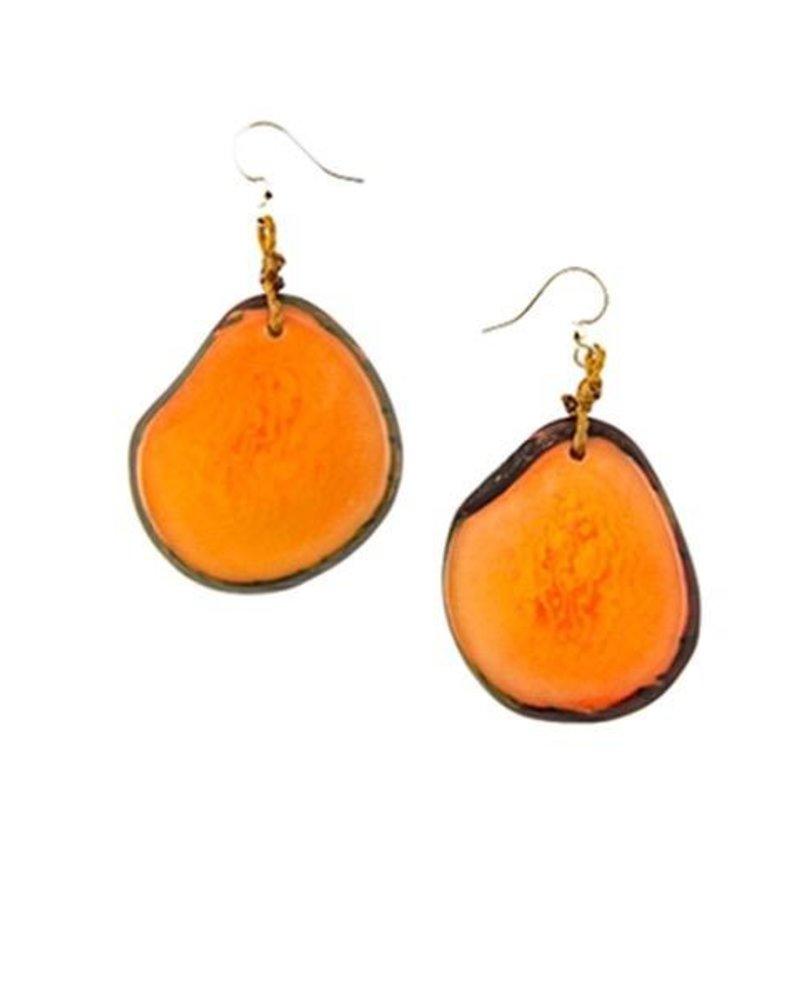 Tagua Amigas Earrings In Naranja