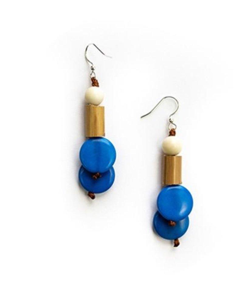 Tagua Bambu Earrings In Biscayne