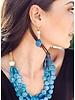 Tagua Bambu Earrings In Pink