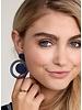 Door-Knocker Resin Earrings In Navy