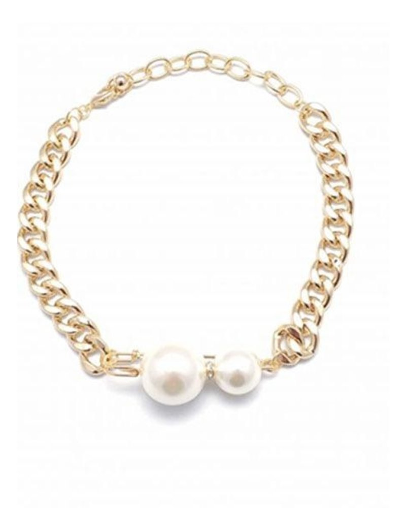 Chunky Chain Cunky Pearl Necklace