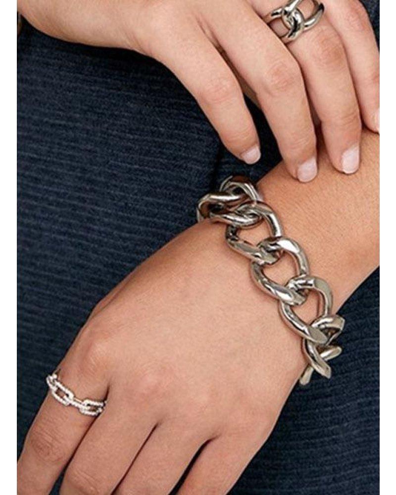 Chunky Chain Bracelet In Silver