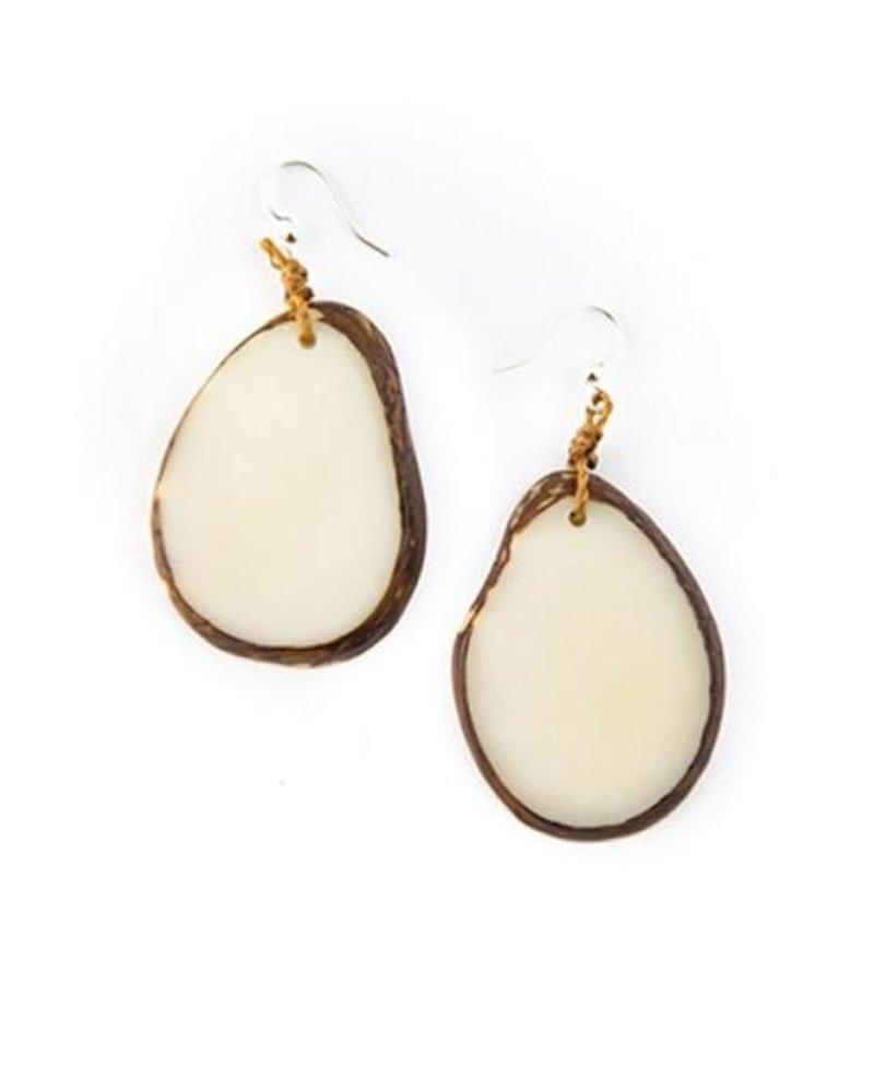 Tagua Amigas Earrings In Ivory