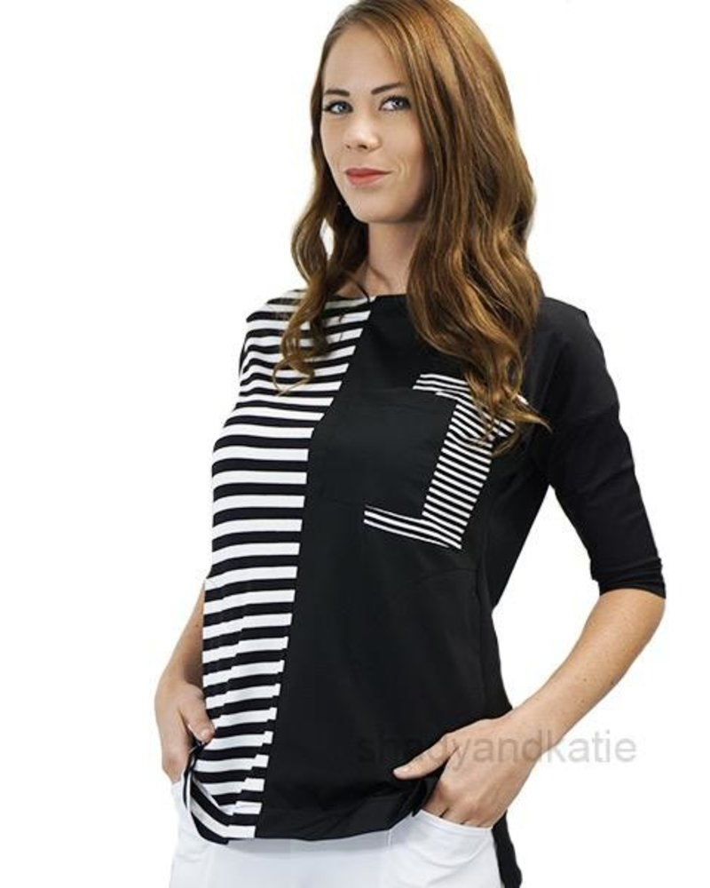 Terra Terra Chic Multi-Stripe Cool Tec Top