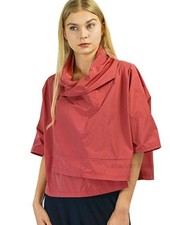Comfy's Sun Kim Ava Jacket In Red Pinstripe