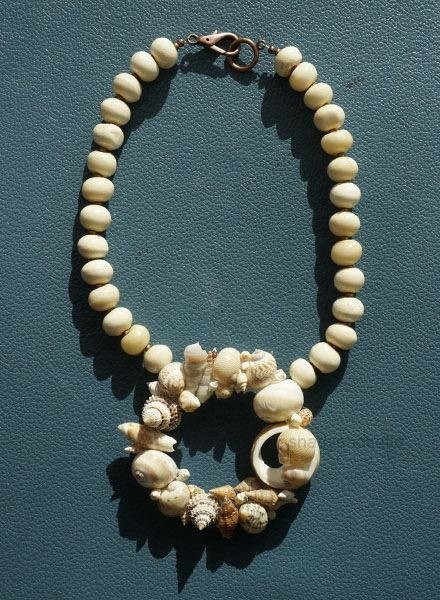 Martha Bennett Bone & Shell Necklace