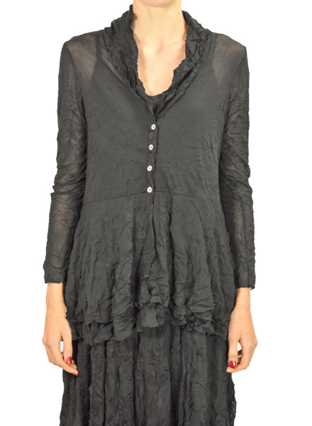 Comfy's Natalie Jacket In Black Mesh