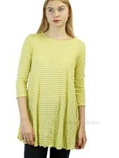 Comfy Simple Tunic In Crinkle Sun Stripe