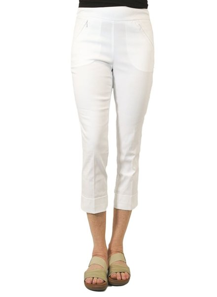Renuar Magic Mid-Calf Capri In White