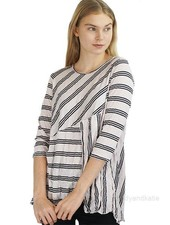 Comfy Amy Top In Mist Stripe