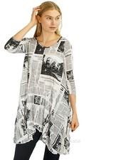 Comfy Zoey Tunic In Newsprint