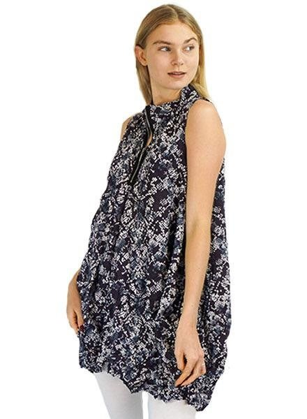 Comfy's Verona Crepe De Chine Vest In The S Print