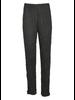 Comfy Long Narrow Pants In Black Crinkle