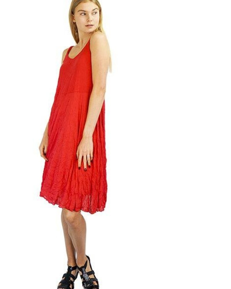 Comfy Micky Dress In Crushed Red