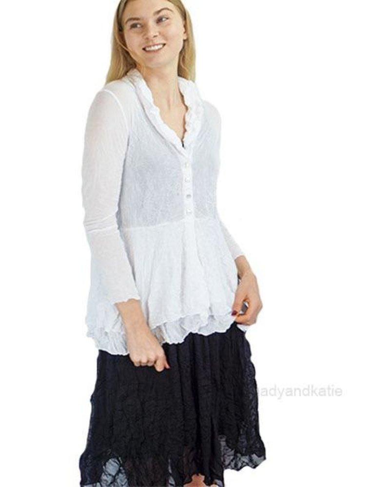 Comfy Natalie Jacket in Crushed White