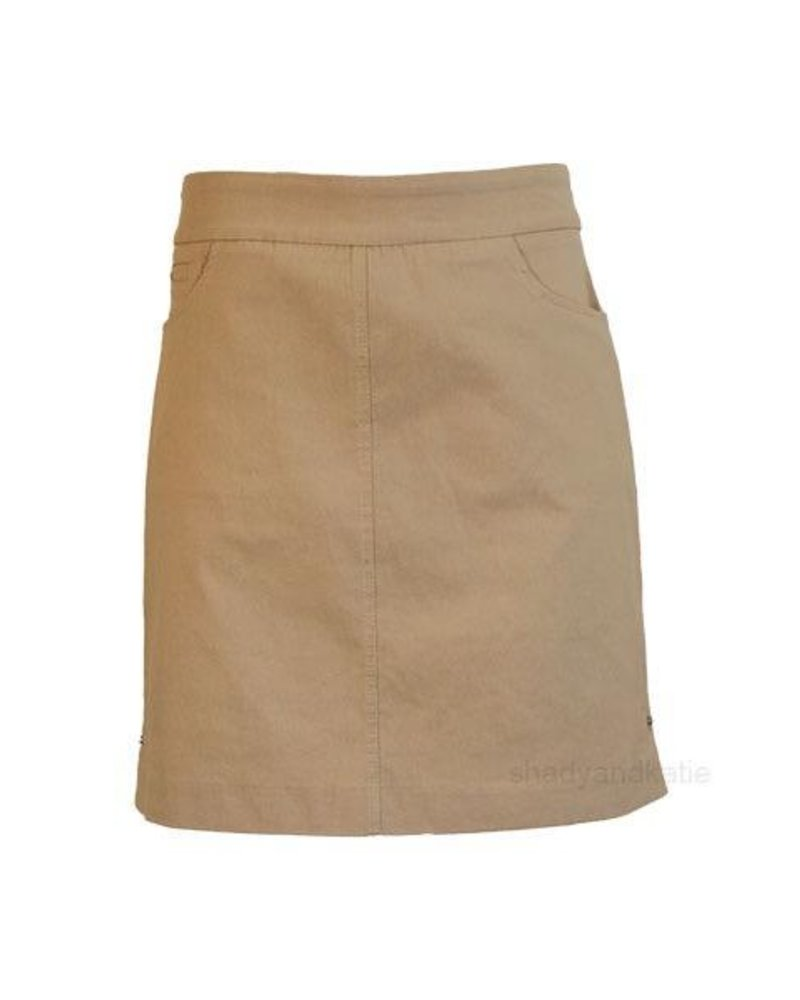 Renuar Renuar's Two Pocket Skort In Sand