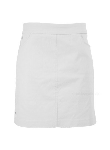 Renuar Renuar's Two Pocket Skort In Grey Mist