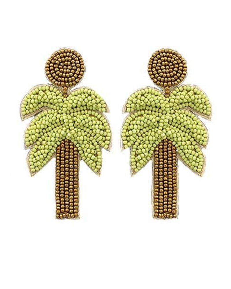 Beaded Palm Tree Earrings