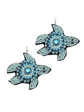 Beaded Sea Turtle Earrings
