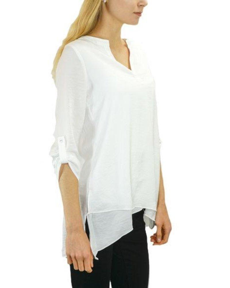 Renuar Renuar's Soft As Silk Blouse In White