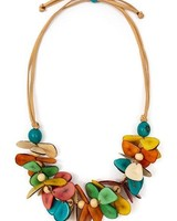 Tagua Mariposa Necklace In Multi