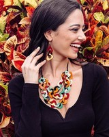 Tagua Vero Necklace In Multi
