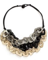 Tagua Vero Necklace In Black Combo