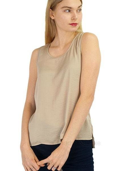 Renuar Renuar Sleeveless Ariflow Top In Sand
