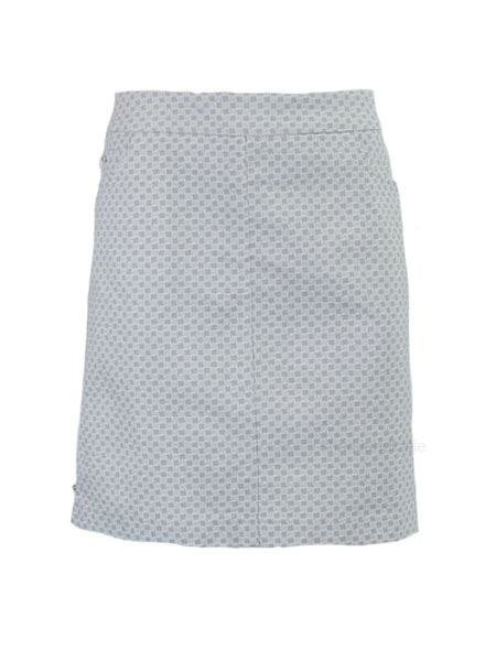 Renuar Renuar's Two Pocket Skort In Grey Mist Print