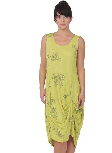 Chalet Chalet Summer Dress In Celery