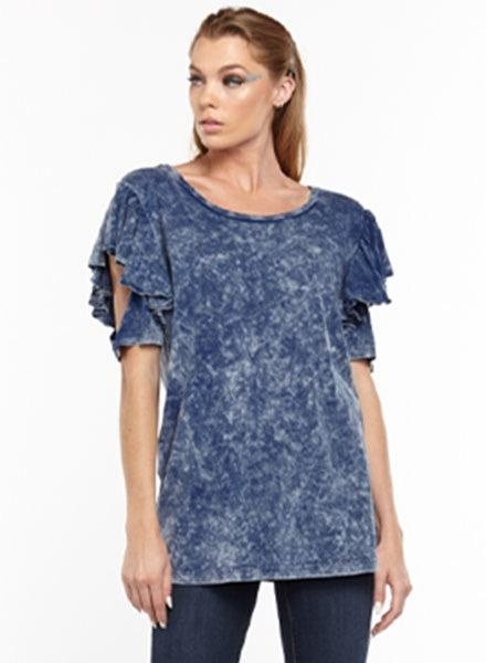 Aratta Aratta's Kelsey Tee Shirt In Denim Wash