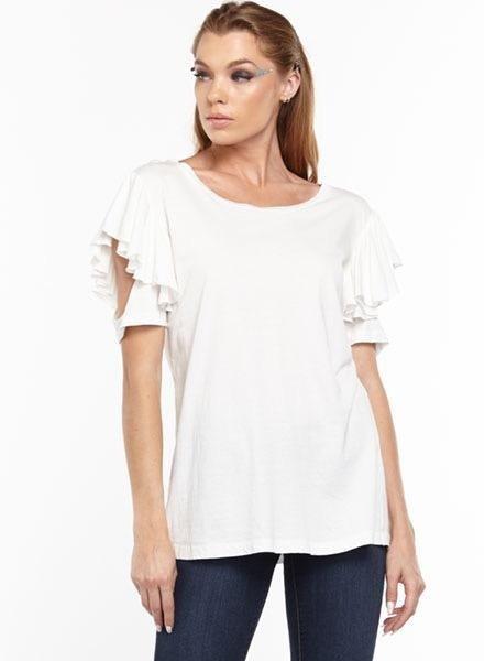 Aratta Aratta's Kelsey Tee Shirt In White