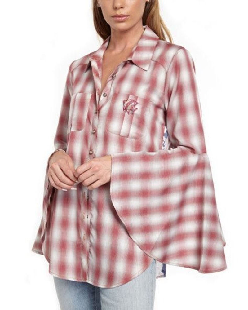 Aratta Aratta's Port D'Eirissa Shirt In Red