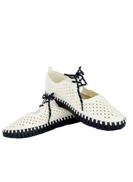 Ilse Jacobsen Ilse Jacobsen Tie Tulip Shoe in White