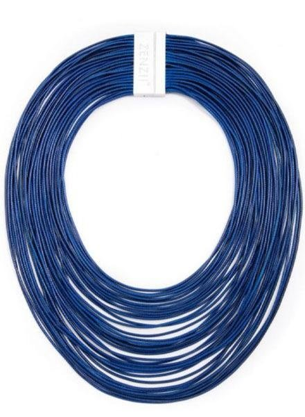 Zenzii Tight Rope Necklace In Navy