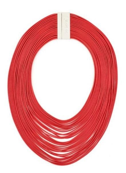 Zenzii Tight Rope Necklace In Red