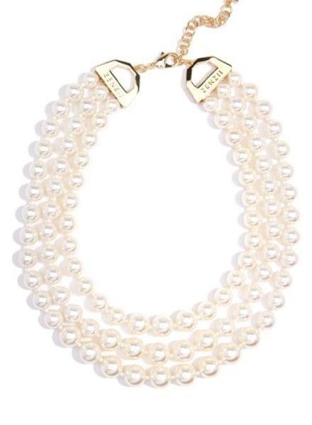 Zenzii Triple Pearl Strand Necklace