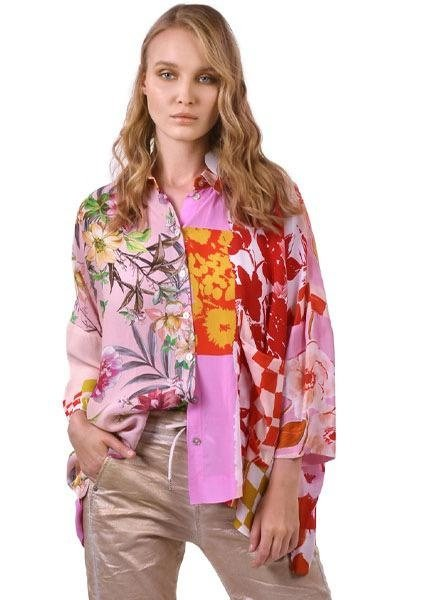 Alembika Alembika Button Down Blouse In Blossom