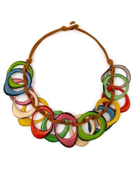 Tagua Dawn Necklace In Multi