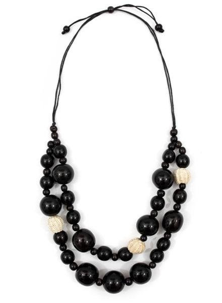 Tagua Lucy Necklace In Black
