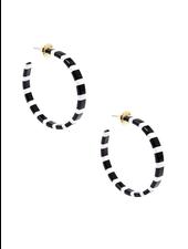 Thin Striped Hoop Earrings