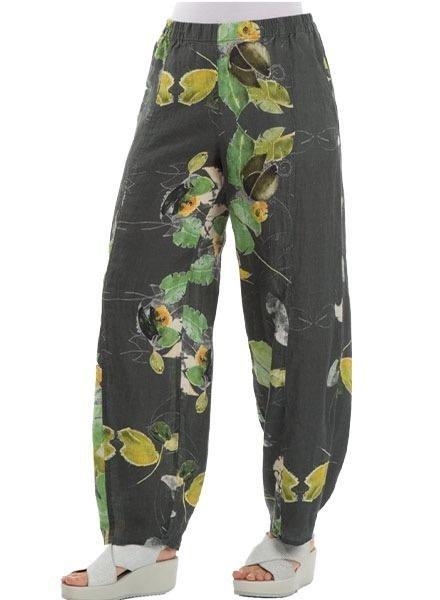 Griza Loose Waterlilies Linen Trousers