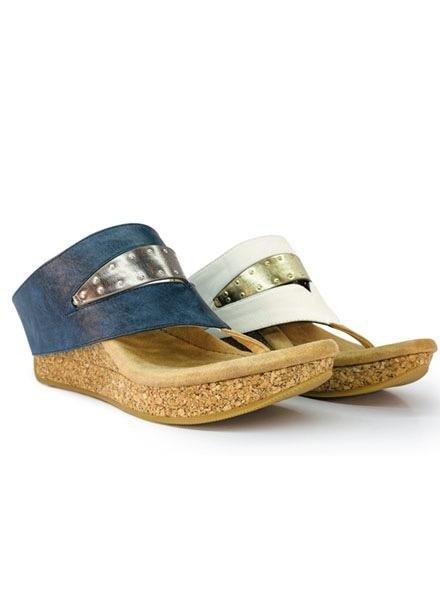 Modzori Reversible Bianca Shoe In Navy & White