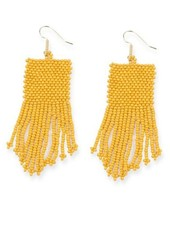 Ink + Alloy Mustard Seed Bead Earrings