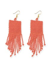 Ink + Alloy Coral Seed Bead Earrings