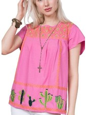 Sister Mary Lupita Cactus Top In Pink