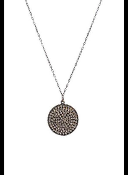 "Rebel Designs Swarovski Crystal Black Diamond 18"" Necklace"
