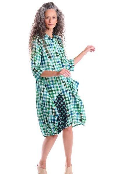 Alembika Alembika Gingham Wonderful Dress In Lagoon